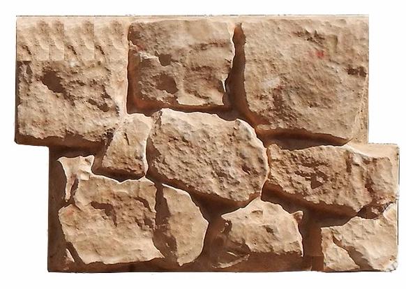 Бетонный сайдинг «Бутовый камень» с оцинкованными закладными