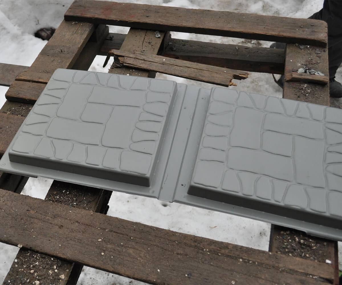 """Пластиковые формы для тротуарной плитки """"Новый булыжник"""""""