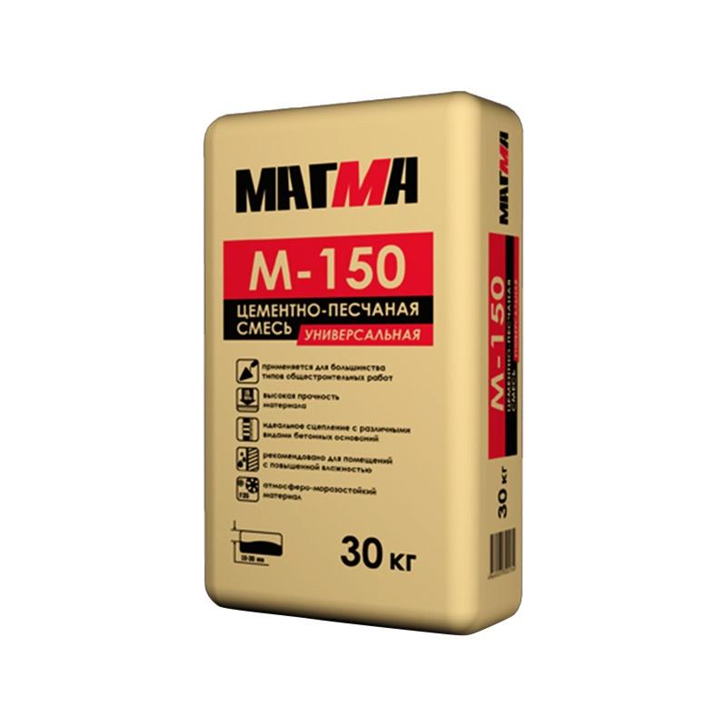 Цементно-песчаная смесь М-150 (25 кг.) МАГМА