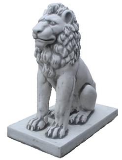Скульптура Большой лев на пьедестале